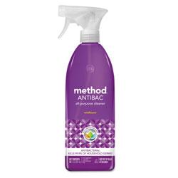 Method Products Antibac All-Purpose Cleaner, Wildflower, 28 oz Spray Bottle, 8/Carton