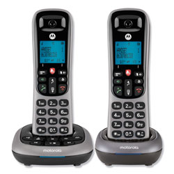 Motorola MTRCD400 Series Digital Cordless Telephone with Answering Machine, 2 Handsets