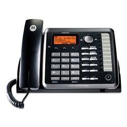 RCA Two-Line Corded Speakerphone, Expandable Up To 10 Cordless Handsets