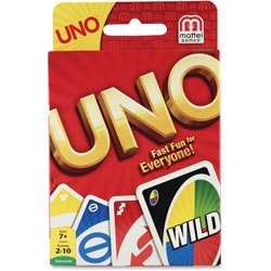 Mattel Uno Card Game, 7 And Up