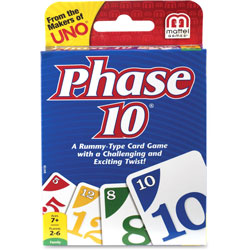 Mattel Phase 10 Card Game, Ages 7 And Up
