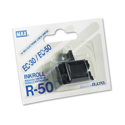 Max USA R50 Replacement Ink Roller, Black