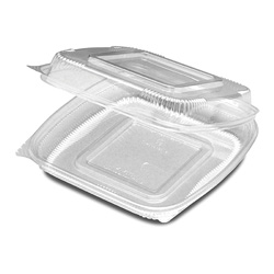 D&W Finepack SeeShell 8 in x 8 in Hinged Container