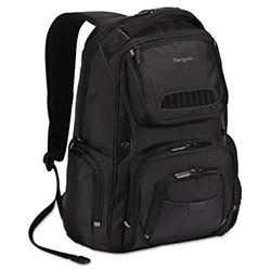 Targus Legend IQ Backpack, 12 3/5 x 10 1/2 x 18 3/10, Black