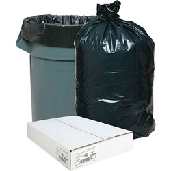 Nature Saver Recycled Black Trash Bags, 33 Gallon, Box of 100