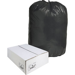 Nature Saver Recycled Black Trash Bags, 60 Gallon, Box of 100