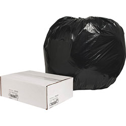 Nature Saver Recycled Black Trash Bags, 56 Gallon, Box of 100
