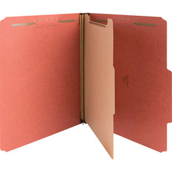 Nature Saver 01050 Classification Folder, Letter, 1 Partition, Red