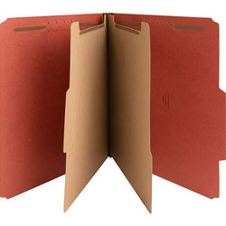 Nature Saver 01051 Classification Folder, Letter, 2 Partitions, Red