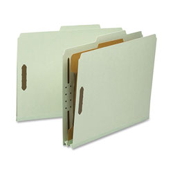 Nature Saver Classification Folder, Letter, Recycled, 1-Div, 10/BX, GYGN