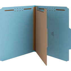 Nature Saver Classification Folders, w/ Fasteners, 1 Dividers, Letter, 10/Box, Beige