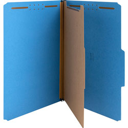 Nature Saver Top-Tab 1-Divider Classification Folder, Dark Blue
