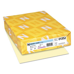 Neenah Paper CLASSIC CREST Stationery, 24 lb, 8.5 x 11, Baronial Ivory, 500/Ream