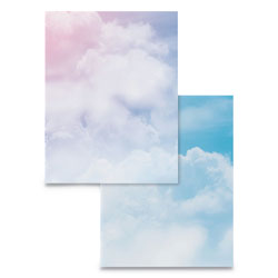 Astrodesigns® Pre-Printed Paper, 28 lb, 8.5 x 11, Clouds, 100/Pack