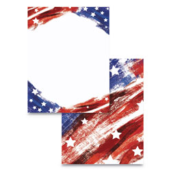 Astrodesigns® Pre-Printed Paper, 28 lb, 8.5 x 11, Stars and Stripes, 100/Pack