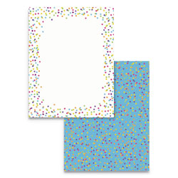 Astrodesigns® Pre-Printed Paper, 28 lb, 8.5 x 11, Watercolor Dots, 100/Pack