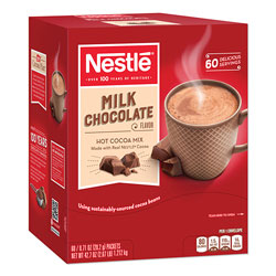 Nestle Hot Cocoa Mix, Milk Chocolate, 0.71 oz Packet, 60 Packets/Box