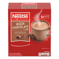Nestle Hot Cocoa Mix, Rich Chocolate, 0.71 oz Packets, 50/Box, 6 Box/Carton