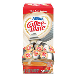 Coffee-Mate® Liquid Coffee Creamer, Original, 0.38 oz Mini Cups, 50/Box