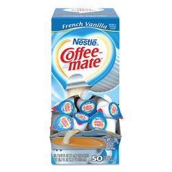 Coffee-Mate® Liquid Coffee Creamer, French Vanilla, 0.38 oz Mini Cups, 50/Box