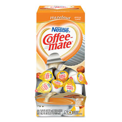 Coffee-Mate® Liquid Coffee Creamer, Hazelnut, 0.38 oz Mini Cups, 50/Box