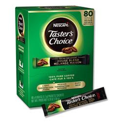 Nescafe Taster's Choice Stick Pack, Decaf, 0.06oz, 80/Box, 6 Boxes/Carton