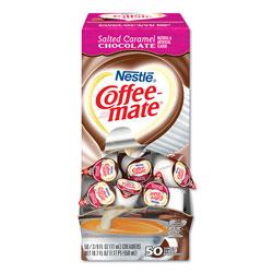 Coffee-Mate® Liquid Coffee Creamer, Salted Caramel Chocolate, 0.38 oz Mini Cups, 50/Box