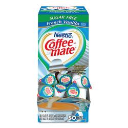 Coffee-Mate® Liquid Coffee Creamer, Sugar-Free French Vanilla, 0.38 oz Mini Cups, 50/Box
