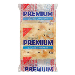 Nabisco Premium Saltine Crackers, 0.05 oz Packet, 2/Packet, 500 Packets/Carton