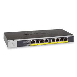 Netgear Unmanaged Gigabit Ethernet Switch, 16 Gbps Bandwidth, 192 KB Buffer, 8 PoE Ports