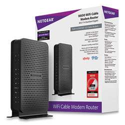 Netgear N600 Wi-Fi Cable Modem Router, 2 Ports, Dual-Band 2.4 GHz/5 GHz