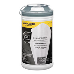 Nice-Pak Disinfecting Multi-Surface Wipes, 7 1/2 x 5 3/8, 200/Canister, 6/Carton