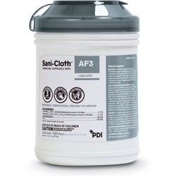 Nice-Pak Sani Cloth Germicidal Wipes, Disposable, 6 in x 6-3/4 in, WE