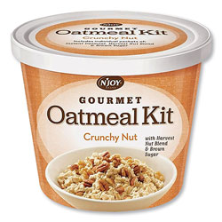 N'Joy Gourmet Oatmeal Kit, Crunchy Nut, 2.33 oz Cup, 8/Carton