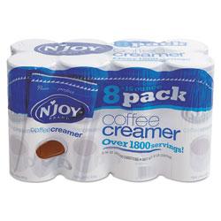 N'Joy Non-Dairy Coffee Creamer, 16 oz Canister, 8/Carton