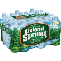 Poland Spring Bottled Spring Water, 0.5 Liter, 24/CT