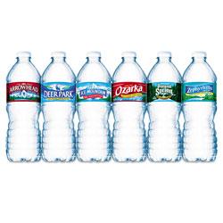 Nestle Bottled Natural Spring Water, .5L, Bottles, 24/Carton