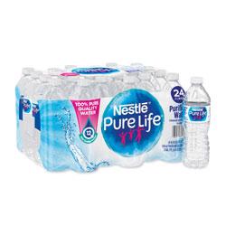 Nestle Pure Life Purified Water, 0.5 liter Bottles, 24/Carton, 78 Cartons/Pallet