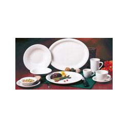"Libbey NR-9 9.5"" Kingsmen White Ultima China Plate"