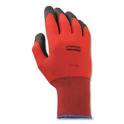 North Safety Products NorthFlex Red Foamed PVC Gloves, Large, Red/Black, 12 Pairs