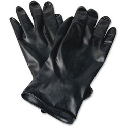 North Safety Products Butyl Chemcial Protection Gloves, SZ-8, 13mil, 1/PR, BK