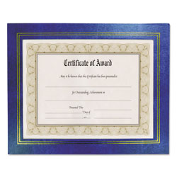 Nudell Plastics Leatherette Document Frame, 8-1/2 x 11, Blue, Pack of Two