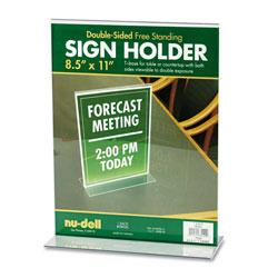 Nudell Plastics Acrylic Sign Holder, 8 1/2 x 11, Clear
