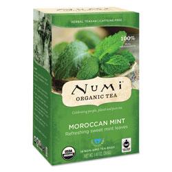 Numi Organic Teas and Teasans, 1.4 oz, Moroccan Mint, 18/Box