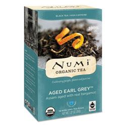 Numi Organic Teas and Teasans, 1.27 oz, Aged Earl Grey, 18/Box
