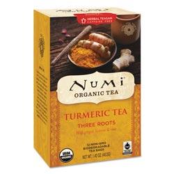 Numi Turmeric Tea, Three Roots, 1.42 oz Bag, 12/Box