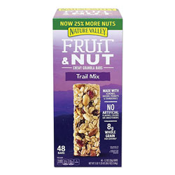 Nature Valley® Granola Bars, Chewy Fruit and Nut Trail Mix, 1.2 oz Pouch, 48/Box