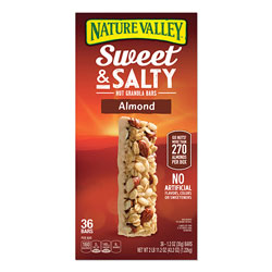 Nature Valley® Granola Bars, Sweet and Salty Almond, 1.2 oz Pouch, 36/Box