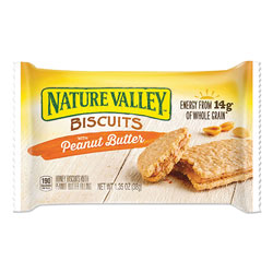 Nature Valley® Biscuits, Honey with Peanut Butter, 1.35 oz Pouch, 16/Box