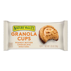 Nature Valley® Granola Cups, Peanut Butter Chocolate, 1.35 oz Pack, 12/Box